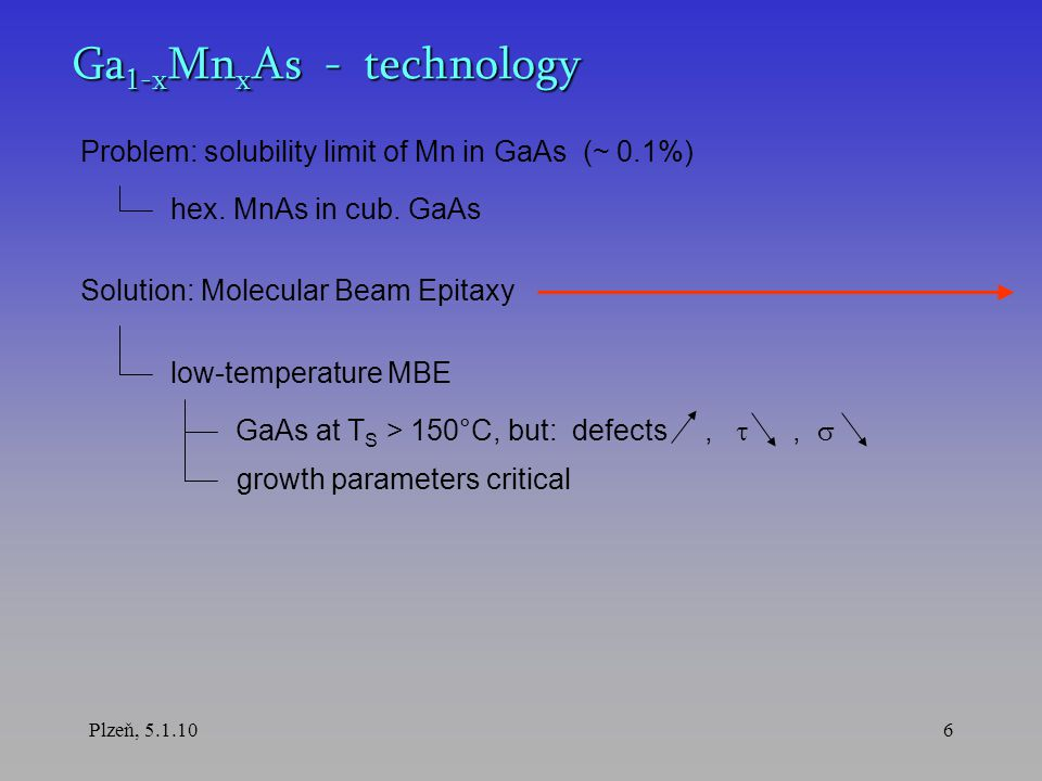 Plzeň, 5.1.107 Molecular Beam Epitaxy UHV growth chamber growth kinetics substrate beams sources high crystallographic quality low growth rate atomically smooth interfaces heterostructures, superlattices