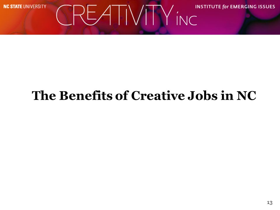 13 The Benefits of Creative Jobs in NC