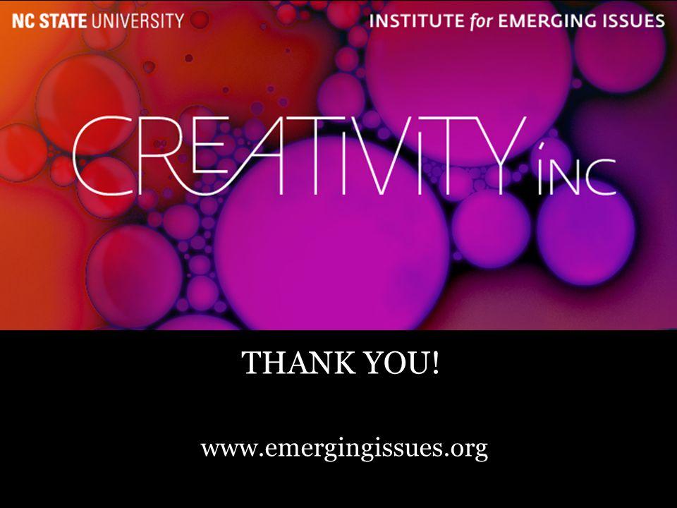 25 THANK YOU! www.emergingissues.org