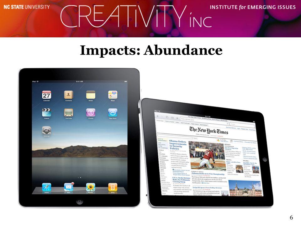 6 Impacts: Abundance