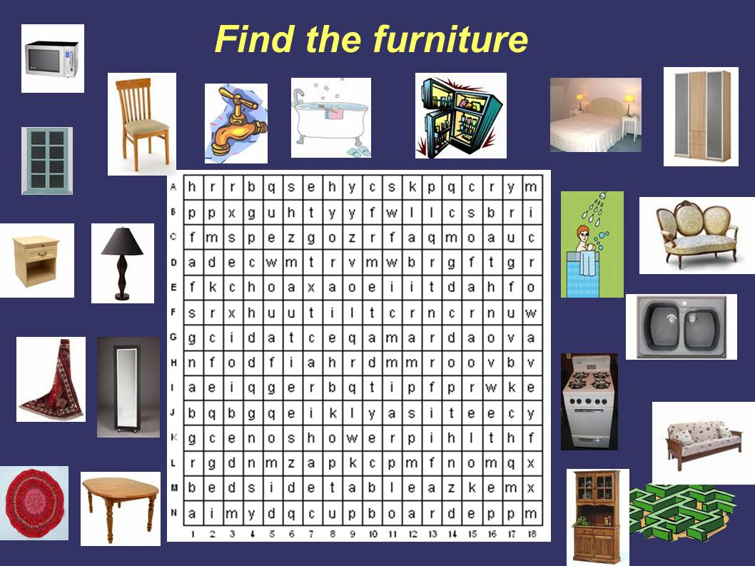 Find the furniture