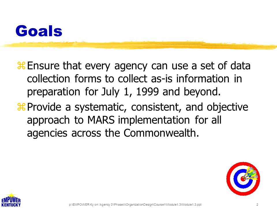 p:\EMPOWER Ky on Agency 3 \Phaseiii\OrganizationDesign\Course1\Module1.3\Module1.3.ppt13 Disk 2: Guidebook 1.doc zStep-by-step instructions for each template zSample completed templates zAdministrative Services Activities Dictionary zSoftware Assistance Guide for Excel and Word zAgency Administrative Services Index