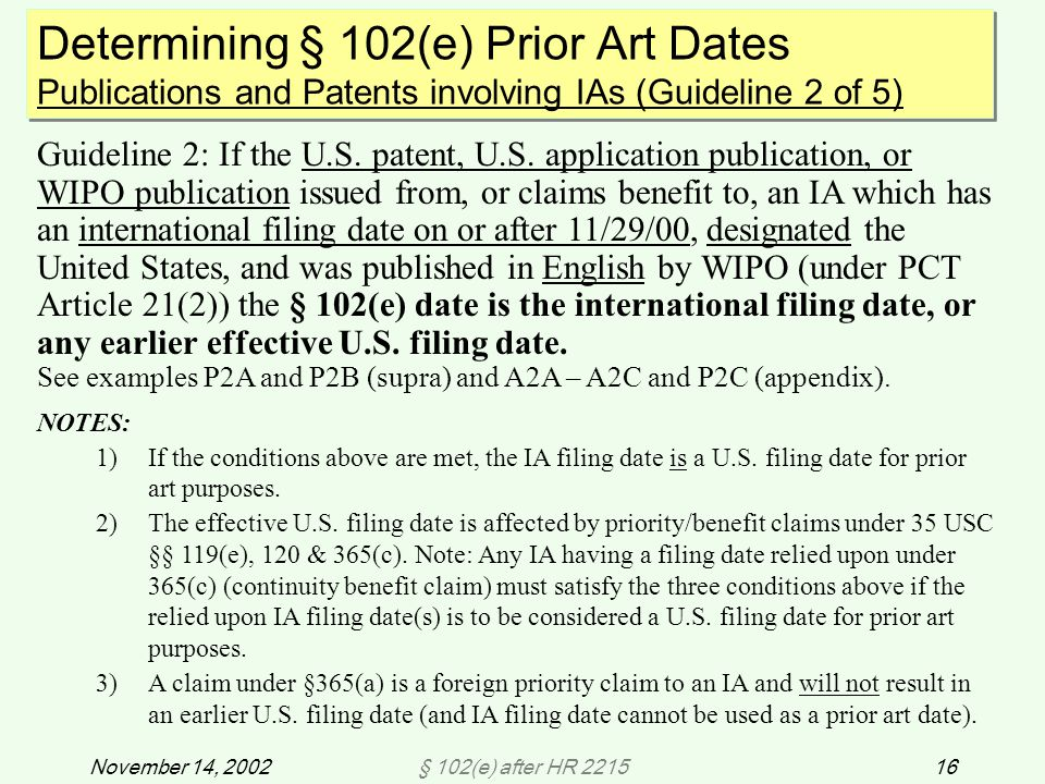§ 102(e) after HR 221516November 14, 2002 Guideline 2: If the U.S.