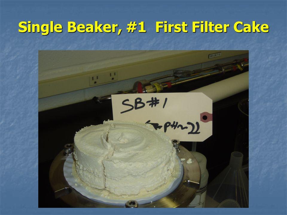 Single Beaker, #1 First Filter Cake