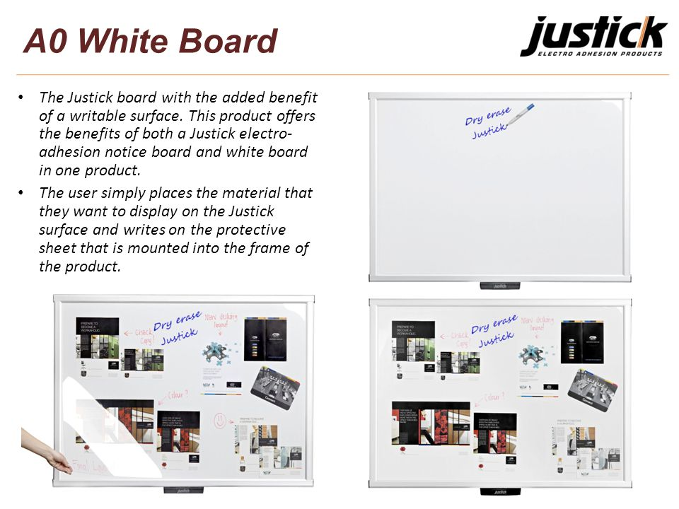 The Justick board with the added benefit of a writable surface.