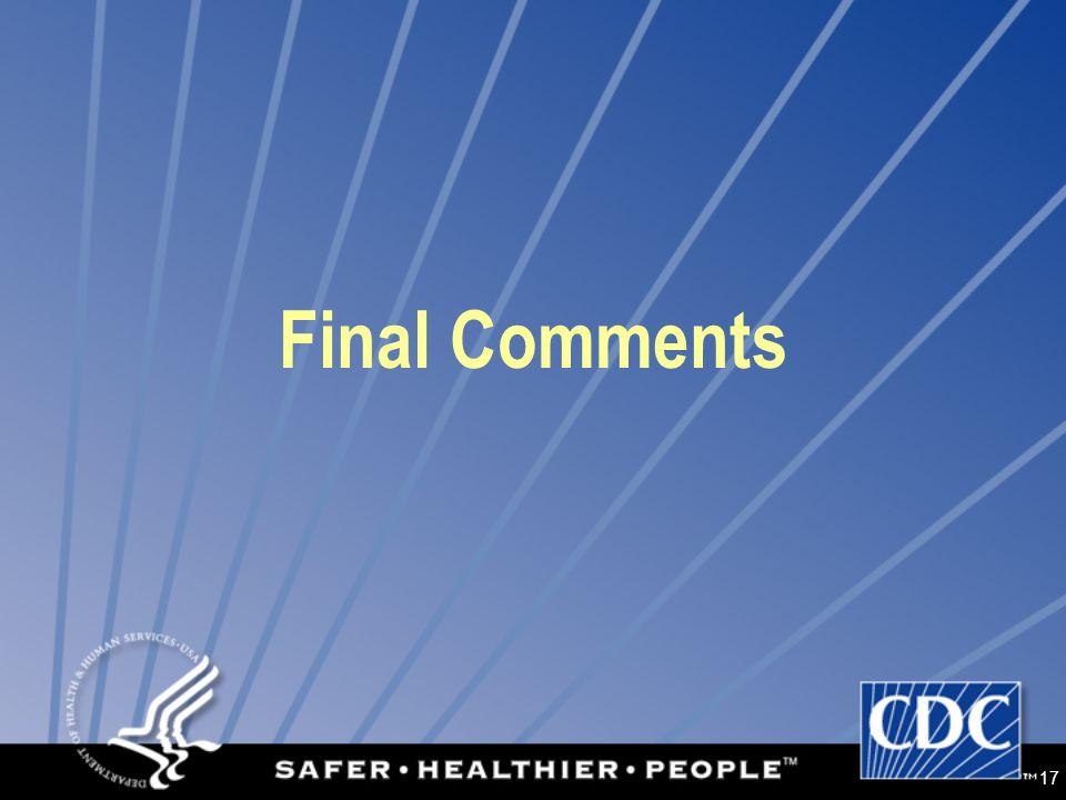 17 Final Comments