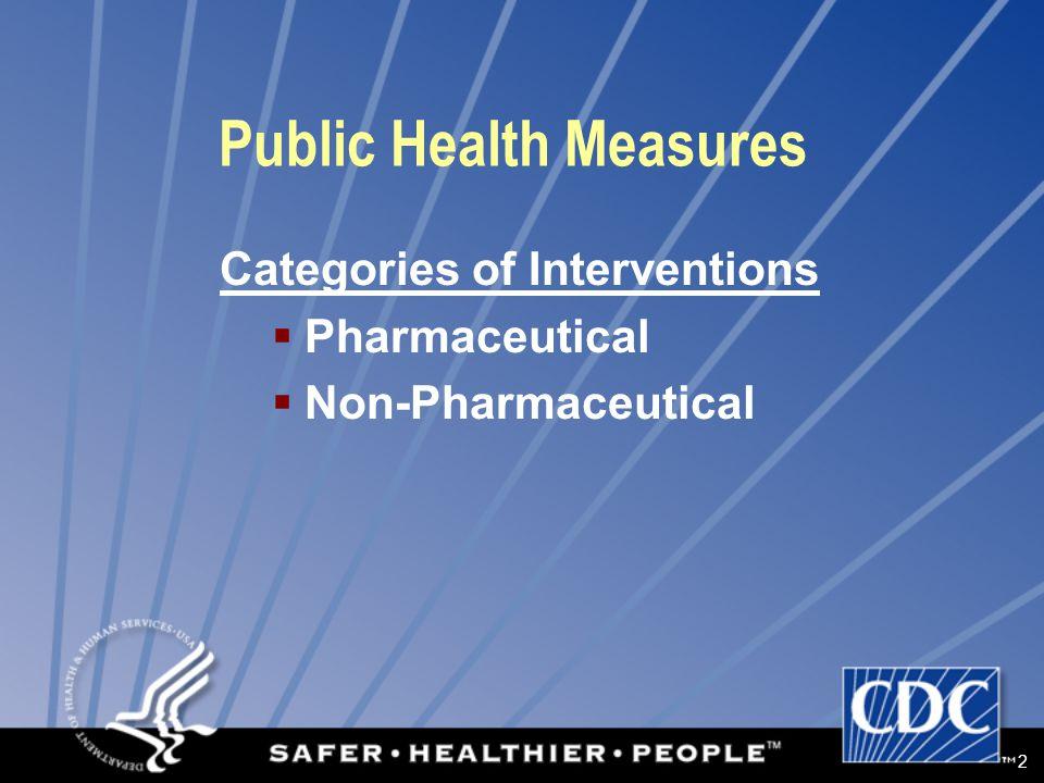 3 Public Health Measures Pharmaceutical Interventions  Vaccines  Antivirals