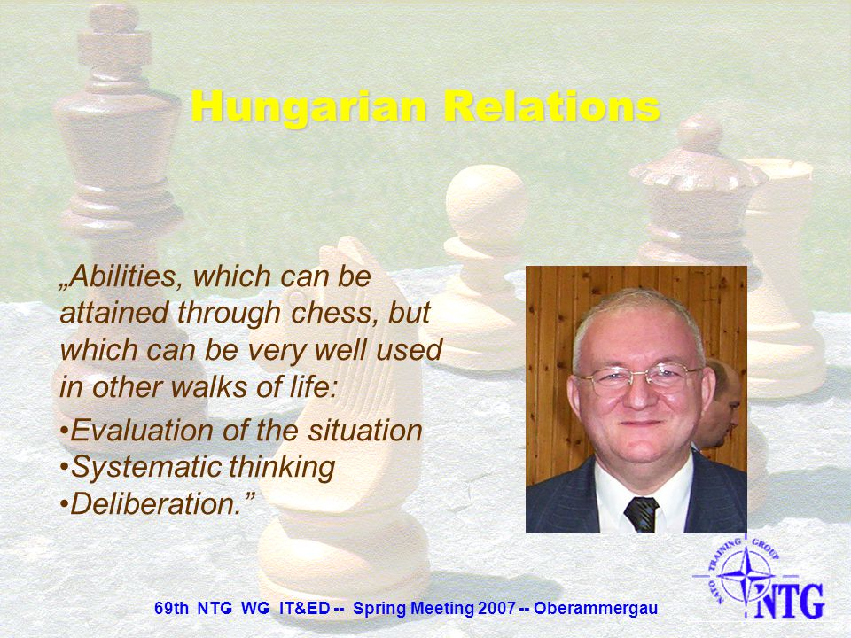 """""""Abilities, which can be attained through chess, but which can be very well used in other walks of life: Decision making ability, power of judgment, d"""