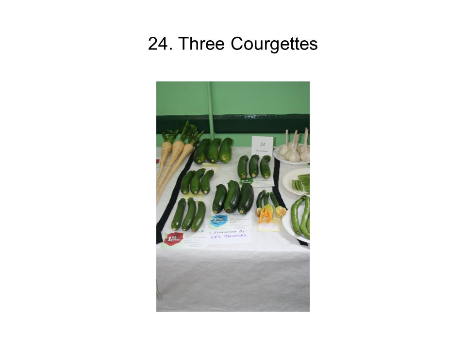 24. Three Courgettes