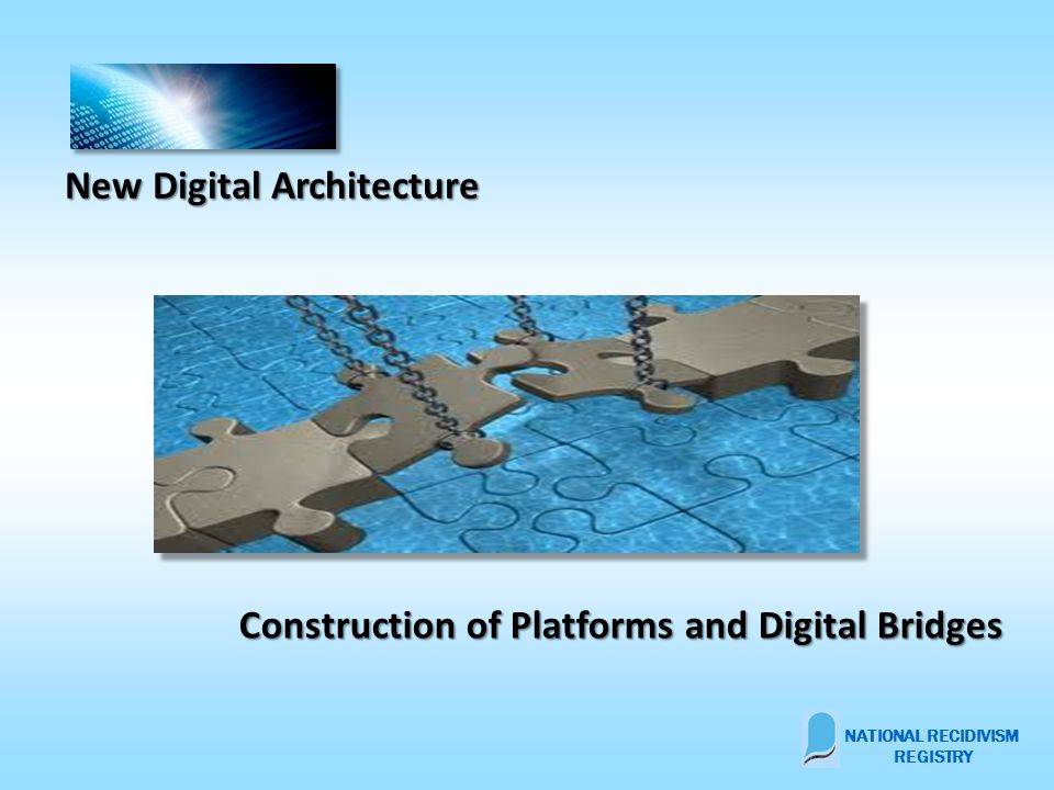 New Digital Architecture Construction of Platforms and Digital Bridges NATIONAL RECIDIVISM REGISTRY