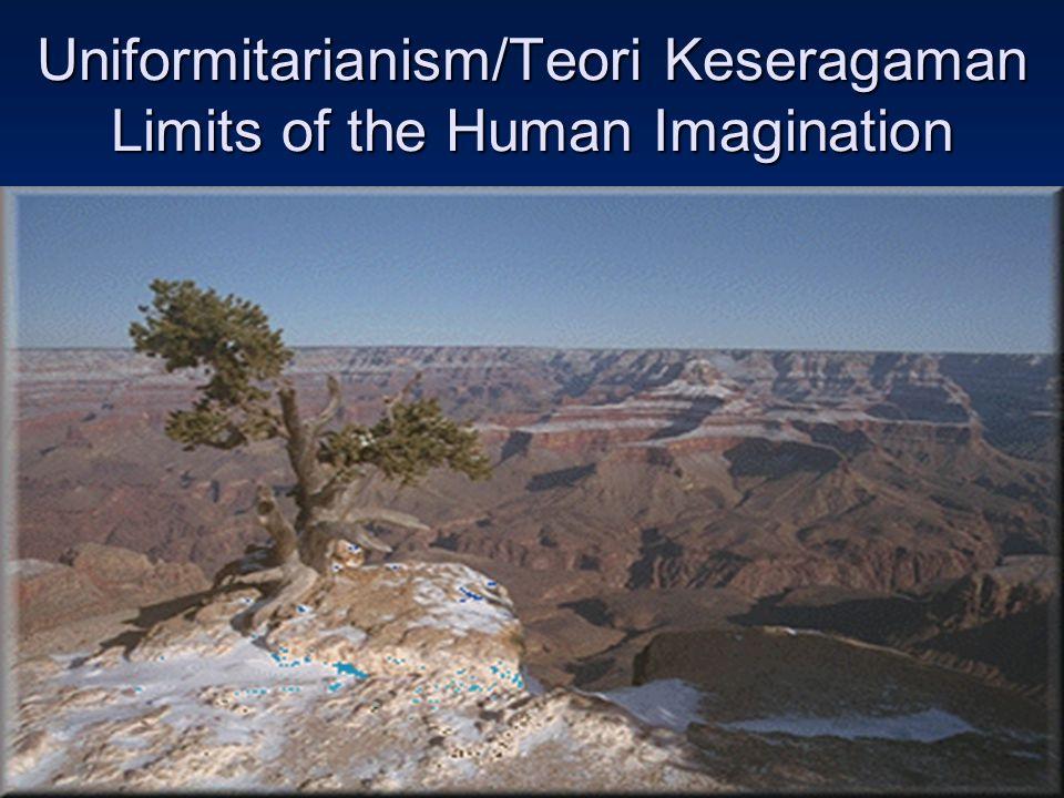 Uniformitarianism/Teori Keseragaman Limits of the Human Imagination