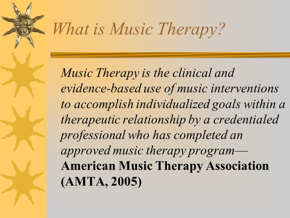 Work Settings Served by Music Therapist Source: AMTA 2010Member Sourcebook, p.215