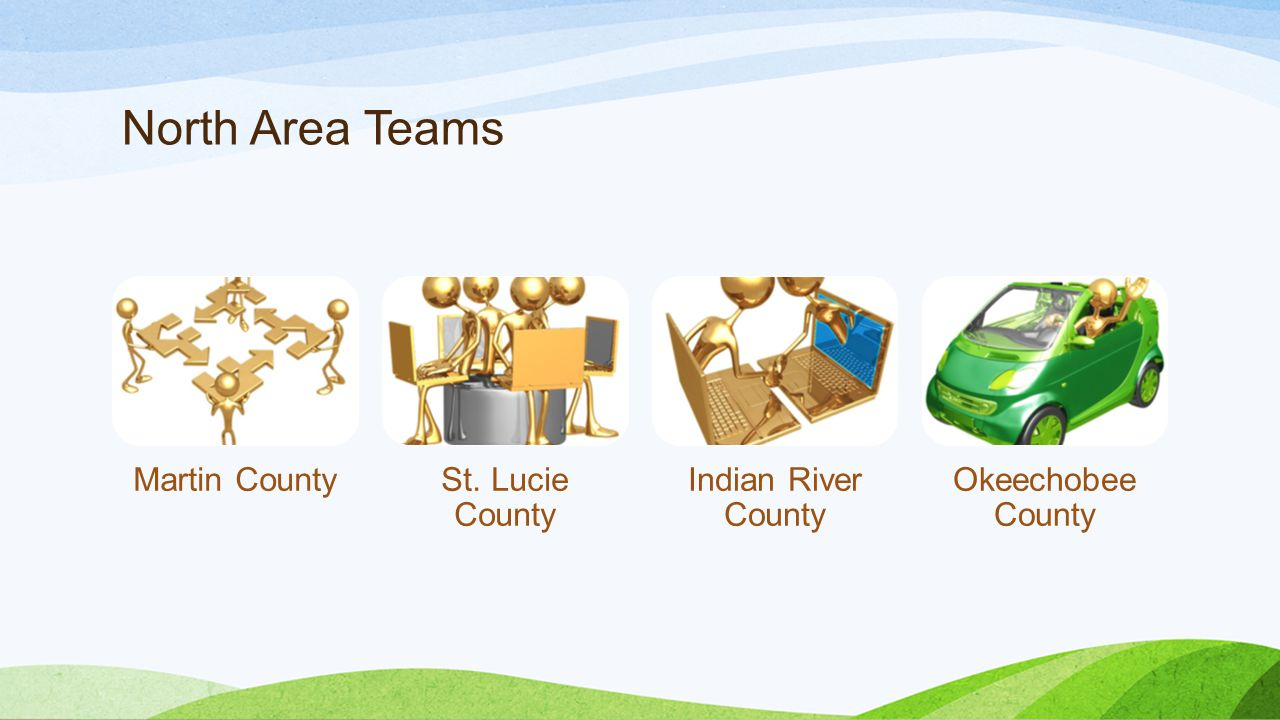 North Area Teams Martin CountySt. Lucie County Indian River County Okeechobee County
