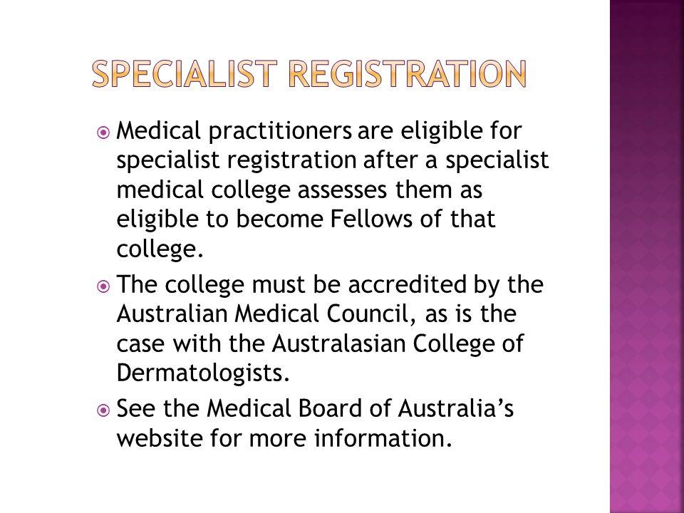 Australian Government Department of Health – District of Workforce Shortage http://www.health.gov.au/internet/main/publishing.ns f/Content/work-pr-dws-fact Australian Health Practitioner Regulation Agency (AHPRA) https://www.ahpra.gov.au/ DoctorConnect - Medicare provider number legislation http://www.doctorconnect.gov.au/internet/otd/publis hing.nsf/Content/medicare Remoteness Area http://www.doctorconnect.gov.au/internet/otd/publis hing.nsf/Content/locator Medical Board of Australia http://www.medicalboard.gov.au/