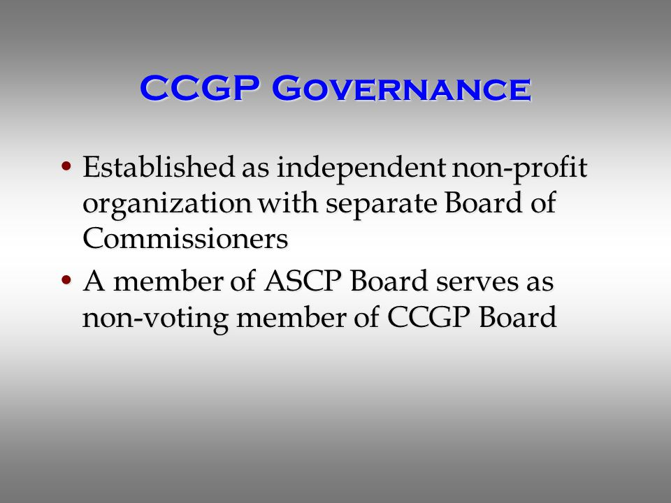 Summary CGP examination is a rigorous board certification examination that meets all applicable quality standardsCGP examination is a rigorous board certification examination that meets all applicable quality standards The CGP examination is accessible to California pharmacists with 16 test centers and exam administration throughout the yearThe CGP examination is accessible to California pharmacists with 16 test centers and exam administration throughout the year