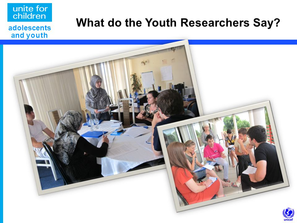 What do the Youth Researchers Say adolescents and youth