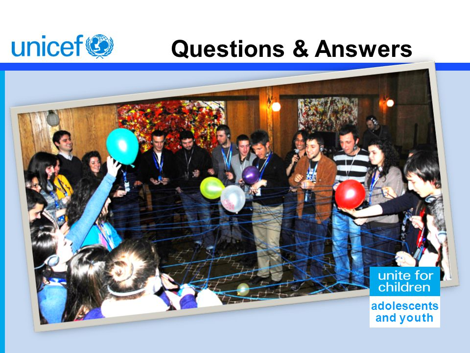 Questions & Answers adolescents and youth