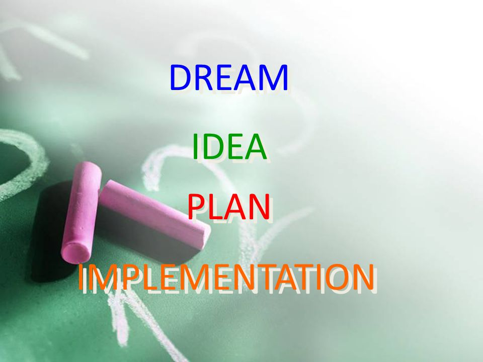 1 DREAM PLAN IDEA IMPLEMENTATION