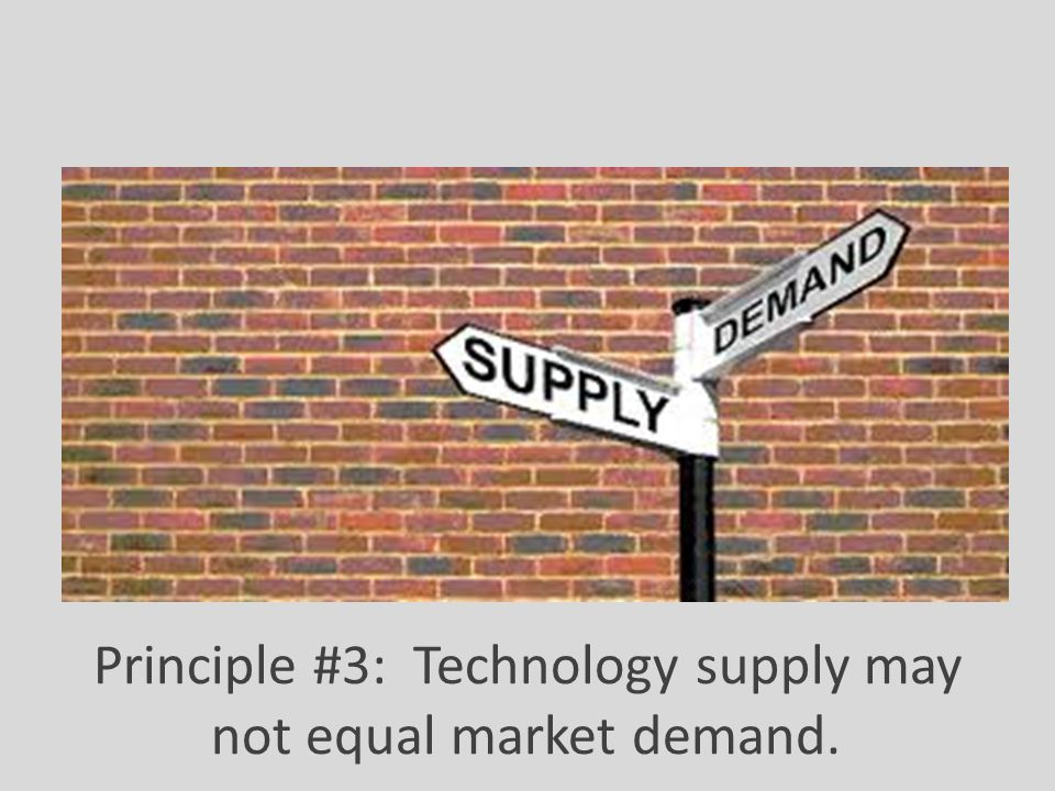 Principle #3: Technology supply may not equal market demand.