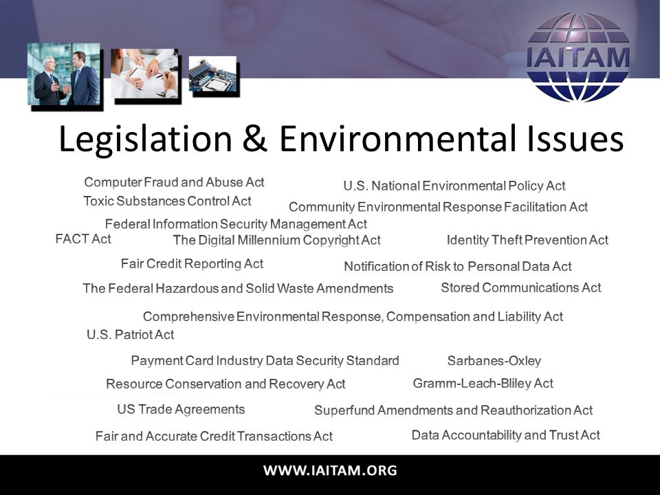 Legislation & Environmental Issues