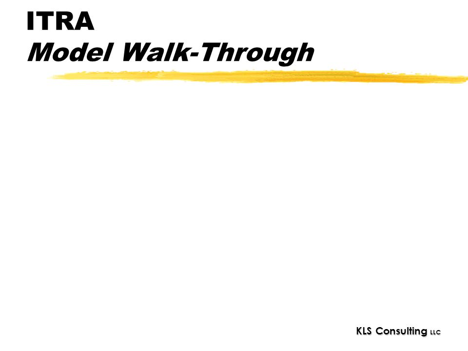 ITRA Model Walk-Through