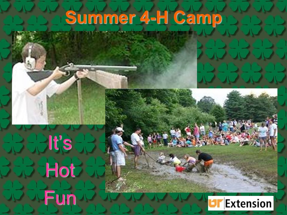 Summer 4-H Camp It's Hot Fun