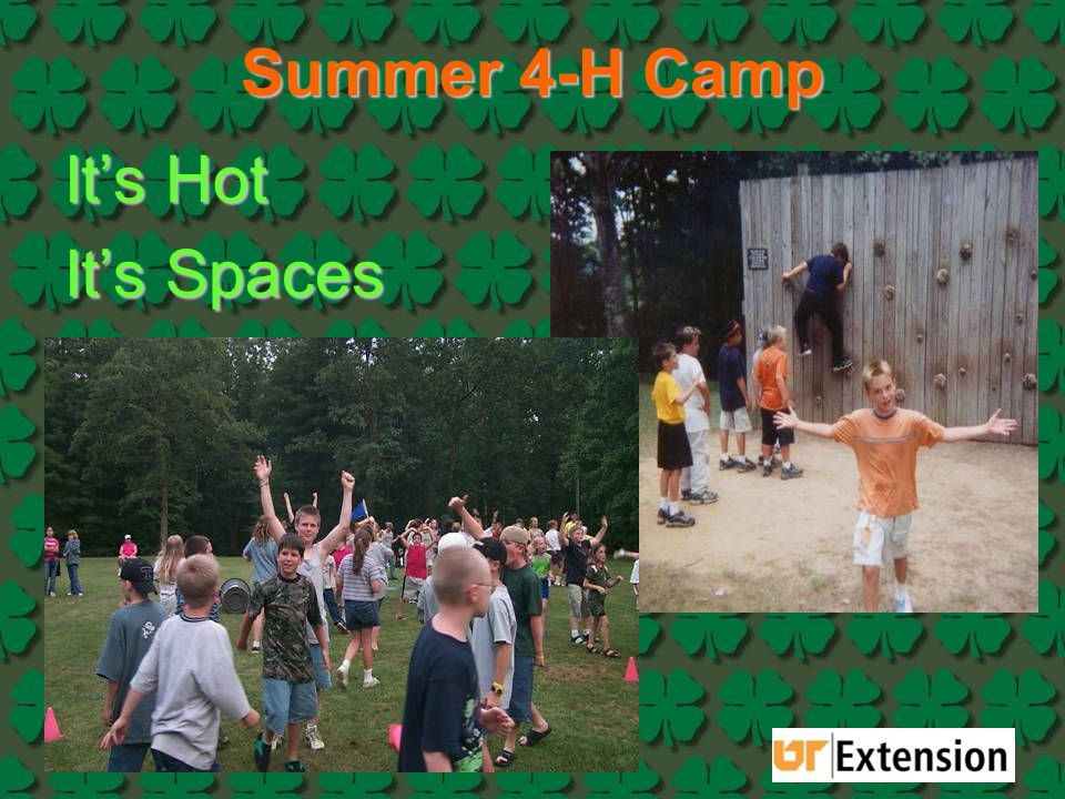 Summer 4-H Camp It's Hot It's Spaces