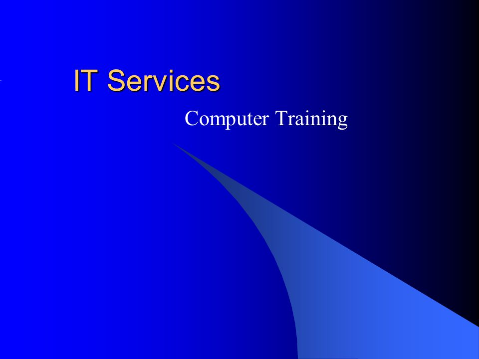 IT Services Computer Training