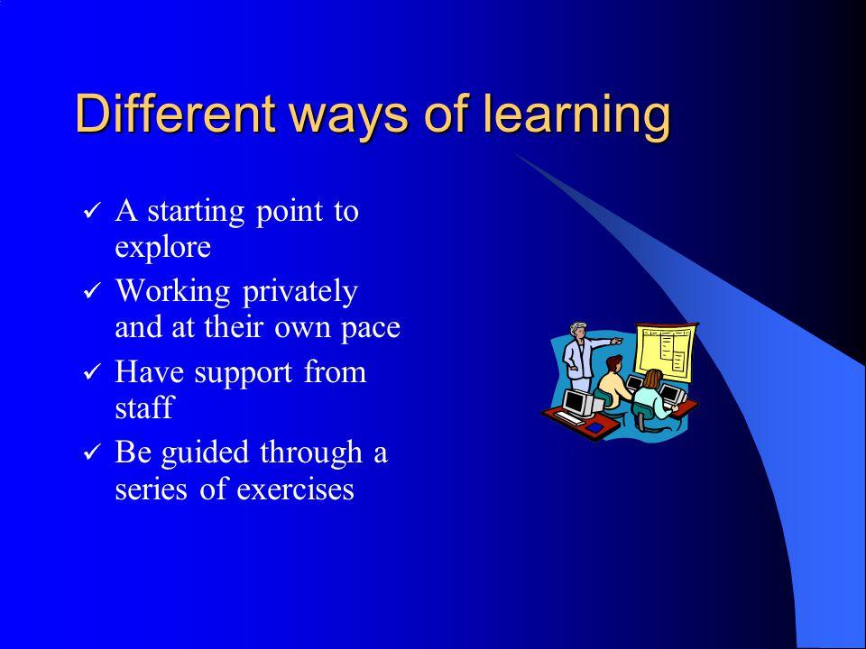 Training Materials IT Services Training Notes on paper IT Services Training Notes online (web pages) Cheltenham Computer Training notes online Online tutorials such as Blackboard Basics