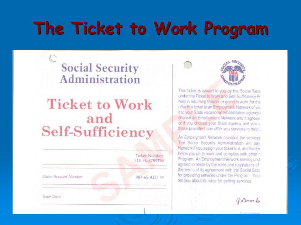 The Ticket to Work Program