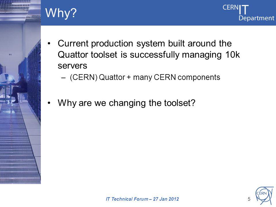 Foreman dashboard IT Technical Forum – 27 Jan 201216