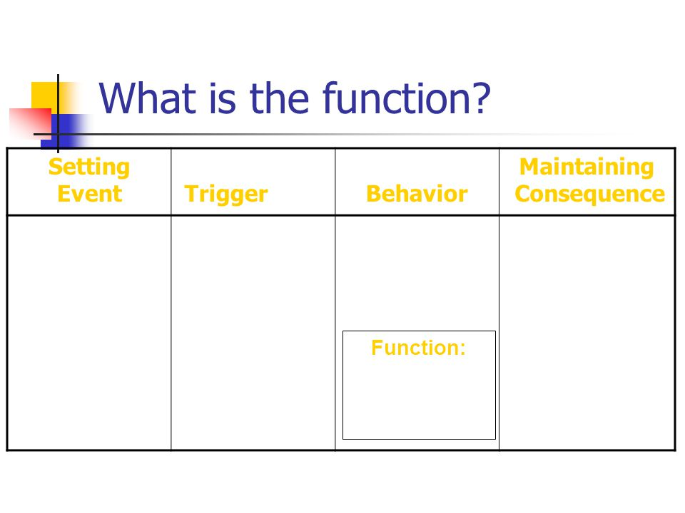 Setting EventTriggerBehavior Maintaining Consequence Function: What is the function