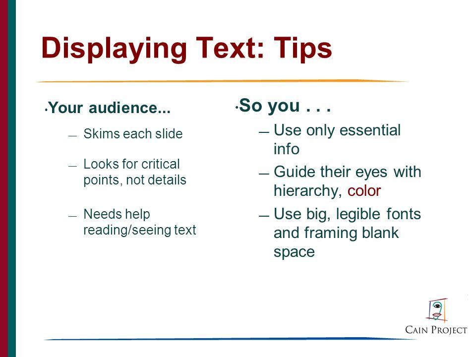 17 Displaying Text