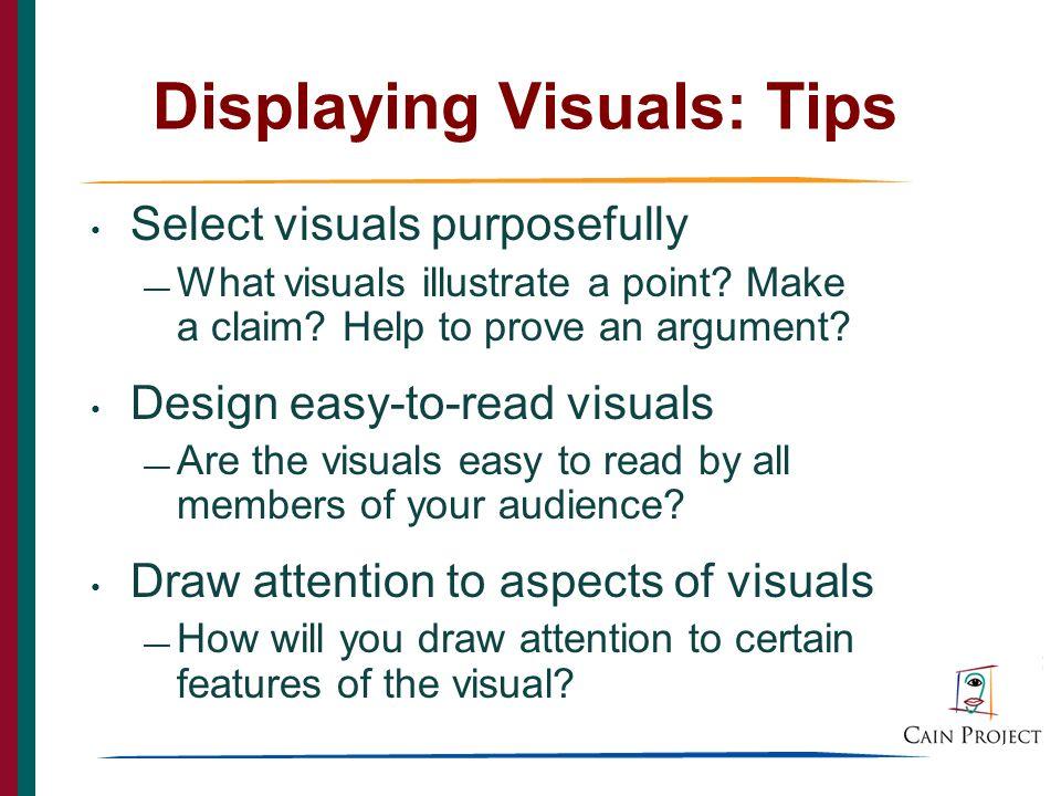 28 Displaying Visuals