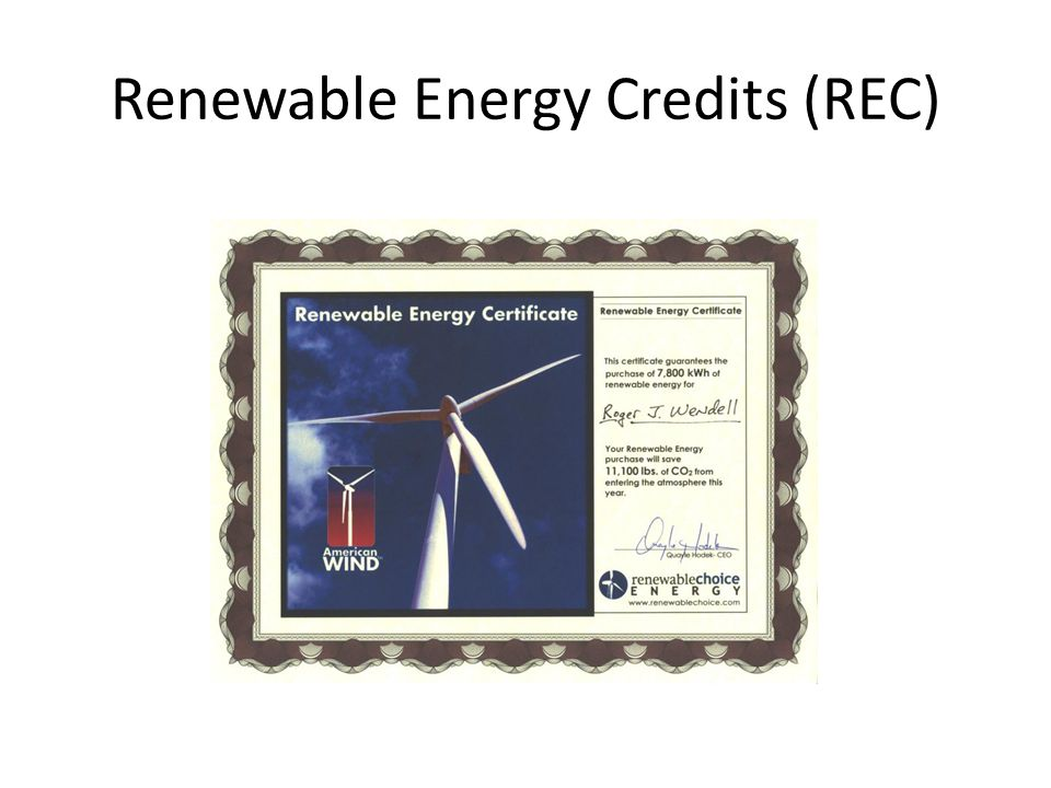 Renewable Energy Credits (REC)