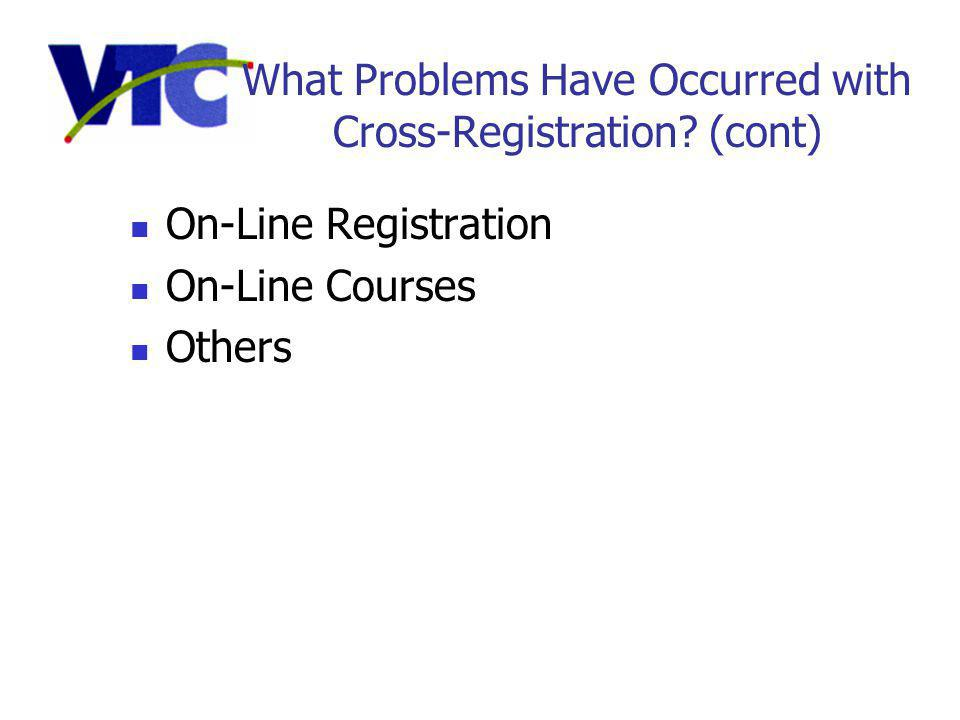 What Problems Have Occurred with Cross-Registration.