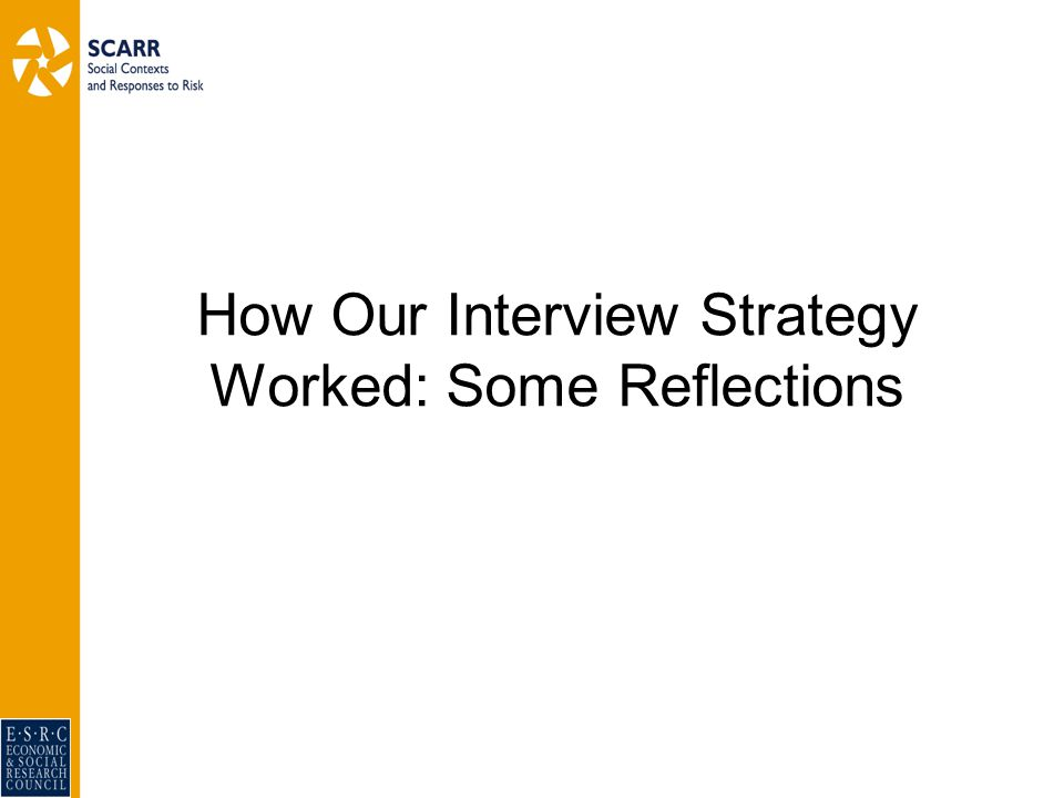 How Our Interview Strategy Worked: Some Reflections
