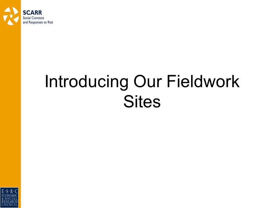 Introducing Our Fieldwork Sites