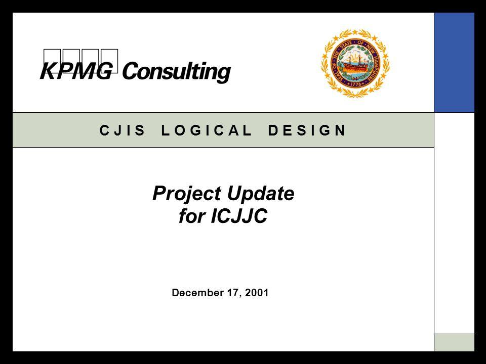 C J I S L O G I C A L D E S I G N December 17, 2001 Project Update for ICJJC