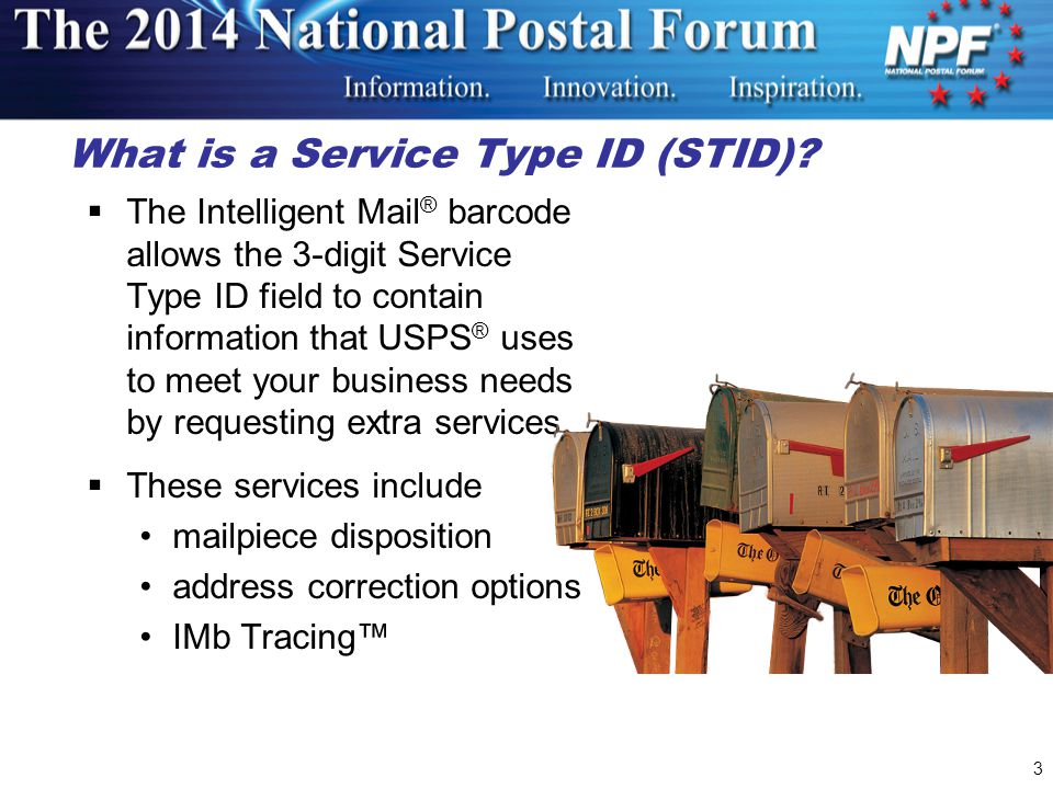 3 What is a Service Type ID (STID).