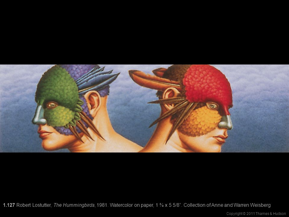 Copyright © 2011 Thames & Hudson 1.127 Robert Lostutter, The Hummingbirds, 1981.