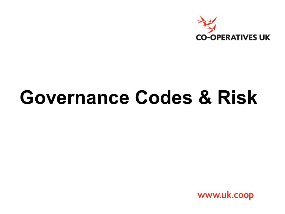 Governance Codes & Risk