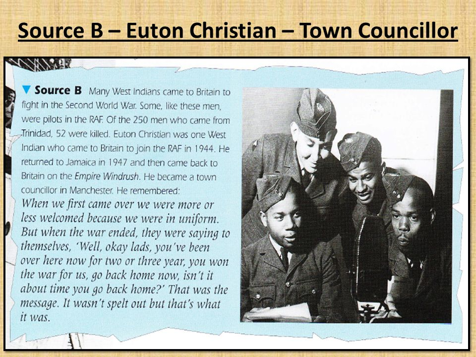 Source B – Euton Christian – Town Councillor