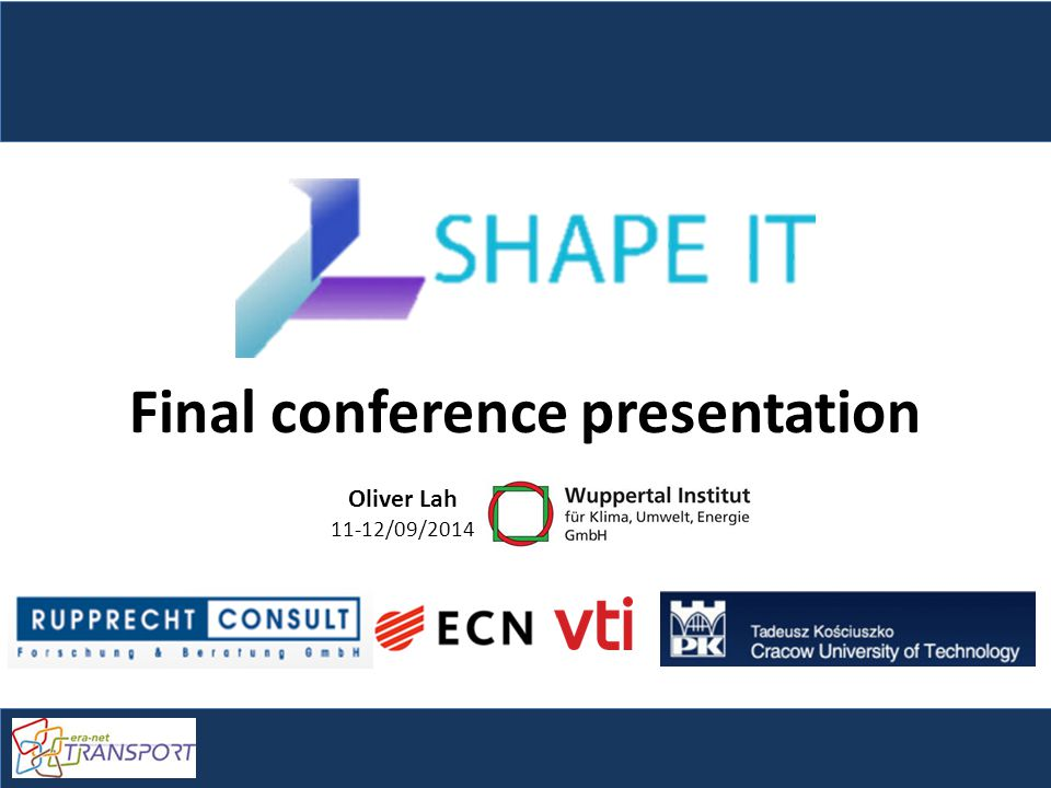 SHAPE-IT final conference presentation Slide 2 Contents Introduction – Research questions Policy integration Policy processes – Methodology Case-studies – Findings Policy recommendations