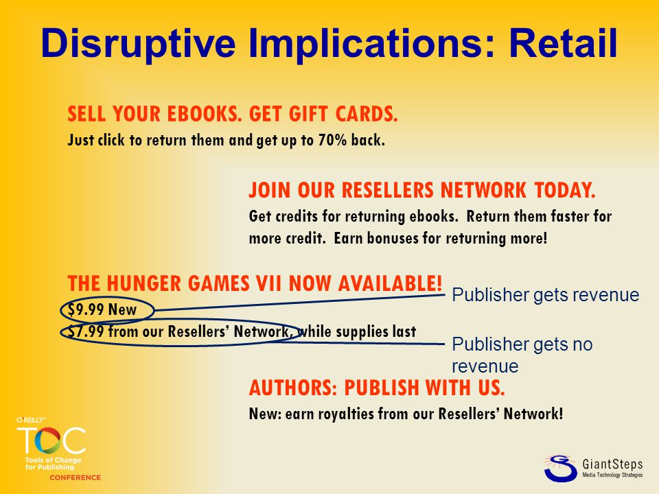 SELL YOUR EBOOKS. GET GIFT CARDS. Just click to return them and get up to 70% back. THE HUNGER GAMES VII NOW AVAILABLE! $9.99 New $7.99 from our Resel
