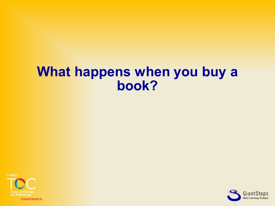 What happens when you buy a book