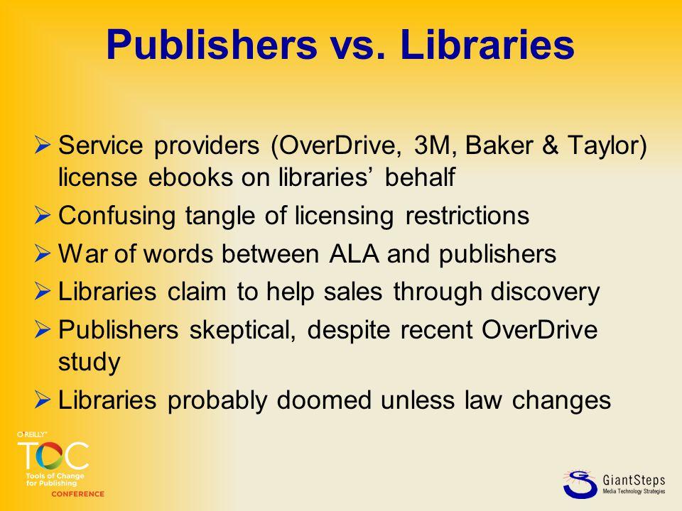 Publishers vs.