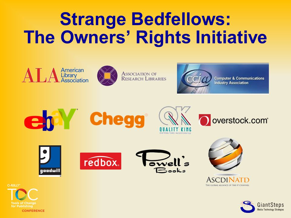 Strange Bedfellows: The Owners' Rights Initiative