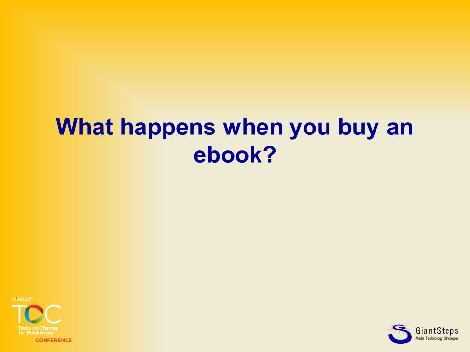 What happens when you buy an ebook