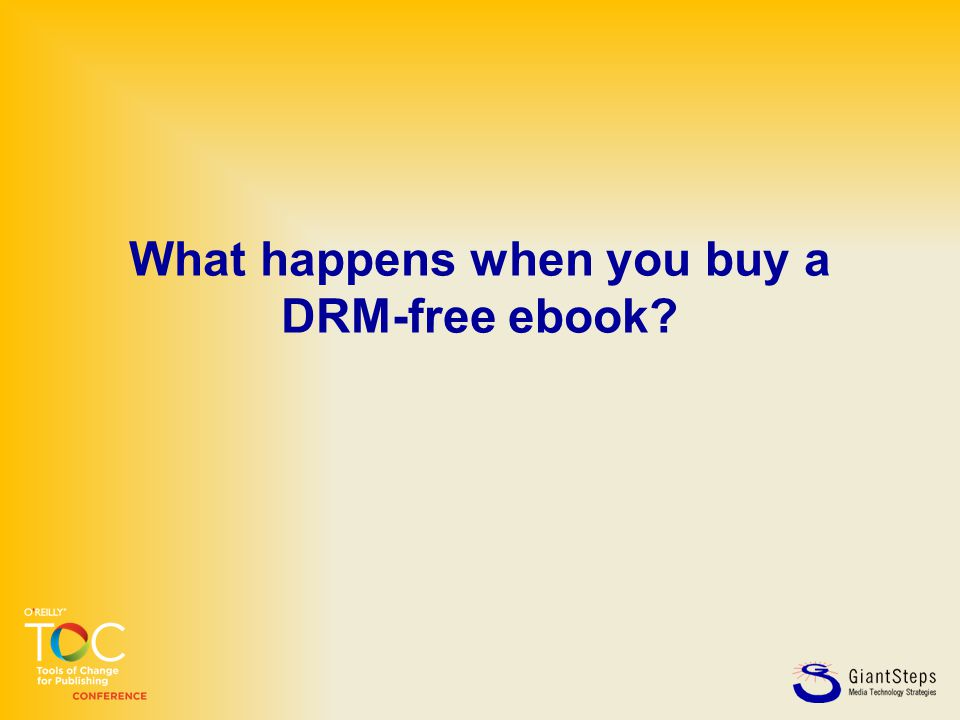 What happens when you buy a DRM-free ebook?